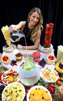 Model Vogue Williams promotes Centra's Live Well range
