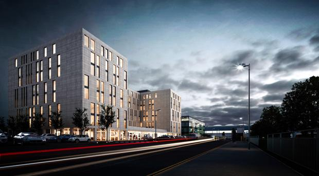 Artist's impression of Stansted's Hampton by Hilton