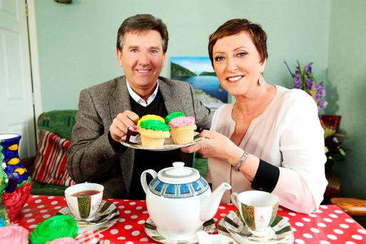 Daniel O'Donnell and his wife Majella during their B&B Road Trip series, which was a success for UTV