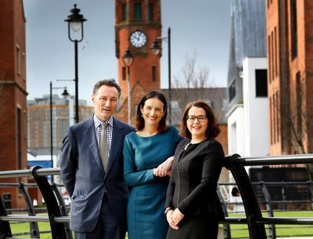 David Gavaghan, CBI Chair, Carolyn Fairbairn, CBI Director-General and Jackie Henry, Senior Partner, Deloitte