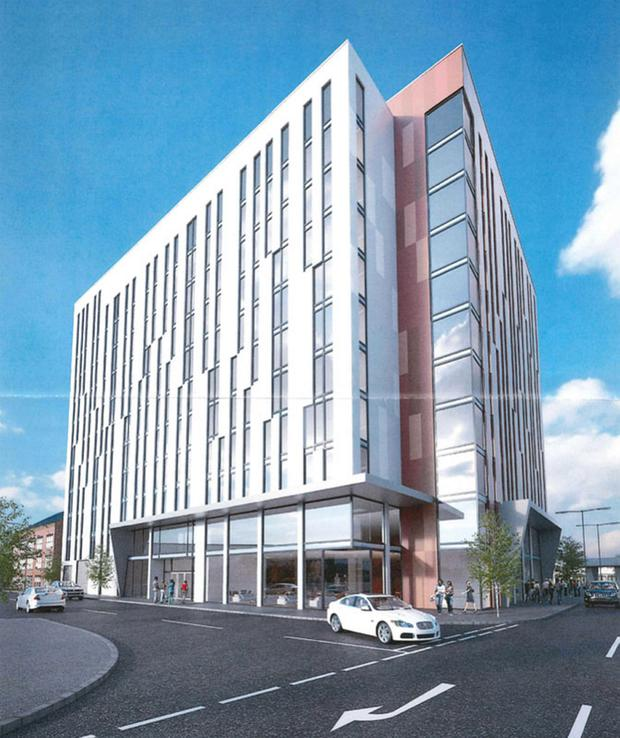 The proposed student development at Little Patrick Street in Belfast