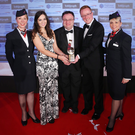 The Excellence in the Development of Management and Leadership Award, sponsored by the Department for Employment and Learning, is presented to Allstate NI's Linda McDonagh and Eddie Killen by Minister Stephen Farry at last year's awards. They were joined by Christine Wright and Jayne Deasy from British Airways