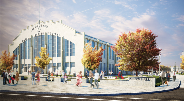 Artist's impression of the new development at the former King's Hall