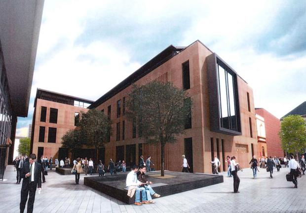 An artist's impression of how the rear of the new development might look