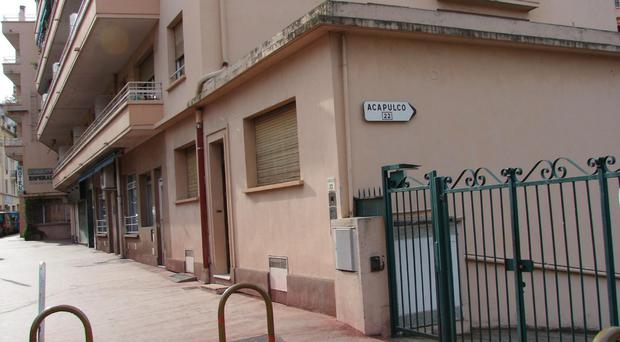 Outside of the Hotel Esperanto in Cannes