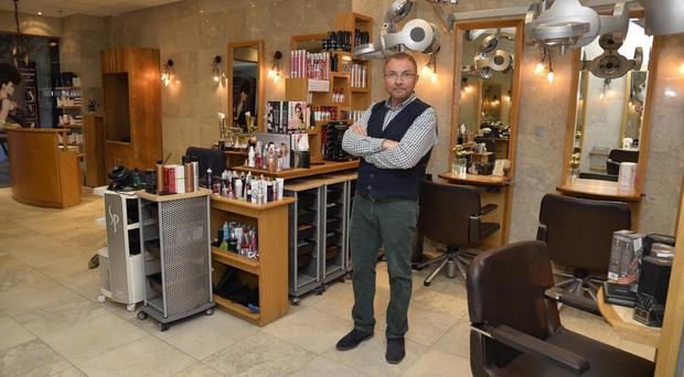 Keith Kane in his Carryduff salon, which he will leave this weekend