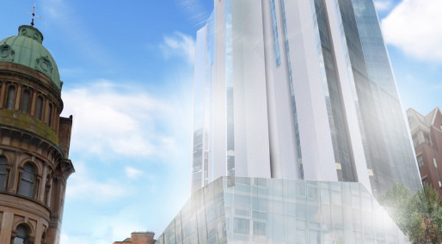 An artist's impression of the Grand Central Hotel, one of the new hotels being constructed in Belfast