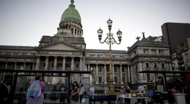Argentina's national congress in Buenos Aires, where politicians agreed a deal to end a dispute over debt with creditors in the US (AP)