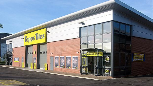 Topps Tiles said like-for-like sales grew by 4.9% in the second quarter (Topps Tiles/PA)