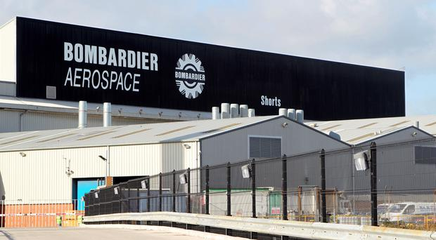 Shorts Bombardier in the Belfast Harbour Estate