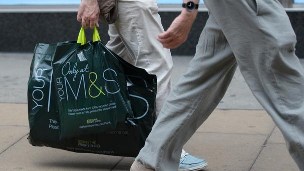 M&S said clothing and home like-for-like sales tumbled 2.7% in the 13 weeks to March 26