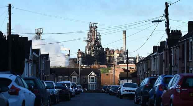 The UK's largest steel works in Port Talbot, South Wales, which Indian owners Tata are looking to sell