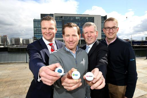 Ian Duddy, Colliers International, Brian Smith, BRS Golf's Vice President of Sales and Operations, Graeme Johnston, Belfast Harbour's Property Director and Richard Barker, BRS Golf's Director of International Sales