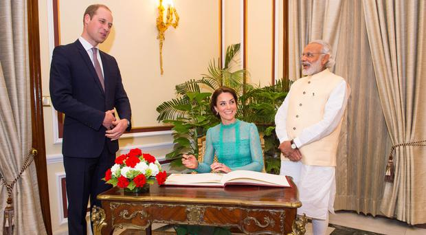 Indian Prime Minister Narendra Modi had talks with the Duke and Duchess of Cambridge