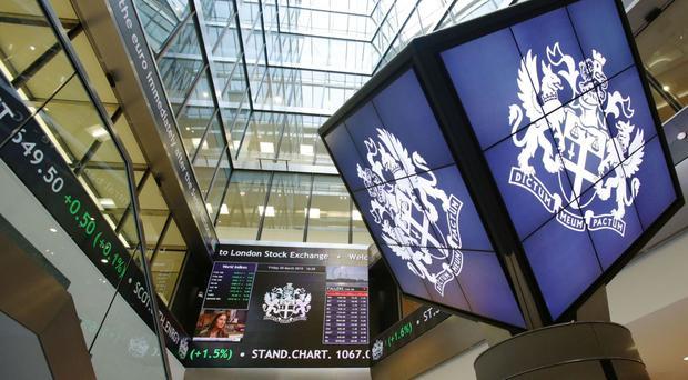 The FTSE 100 Index was up 80.1 points to 6321.6