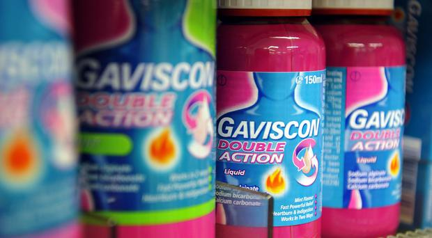 Reckitt Benckiser, which numbers Gaviscon among its products, had better-than-expected sales figures