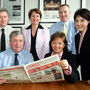 The 2007 judging panel for the Belfast Telegraph Business Awards (back left to right) Michael Ryan, Bombardier chief and then chairman of Business In The Community, Mary Donnelly of Ulster Bank, Donal Durkan of Invest NI and Brenda Morgan, now British Airways partnership manager. (Seated from left) John Simpson, chairman of the judging panel, and Dolores O'Reilly