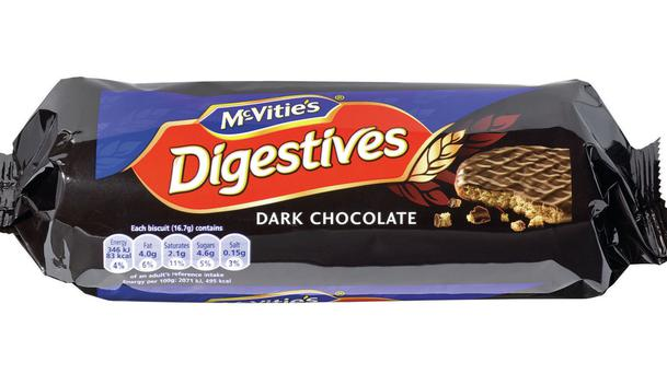 McVitie's Digestives dark chocolate biscuits decreased from 332g to 300g (Which?/PA)