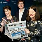 Brenda Morgan of British Airways, Karen Shearer, finance director of Novosco and Margaret Canning, Belfast Telegraph Business Editor