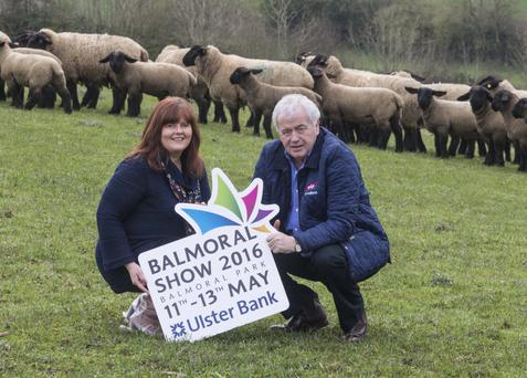 Gerry Mellotte, a manager at ABP, joined Jenny McNeill of show organiser the Royal Ulster Agricultural Society (RUAS) to announce its extended involvement