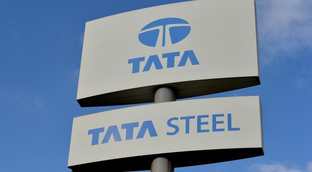 File photo dated 20/10/15 of a view of a Tata Steel sign.