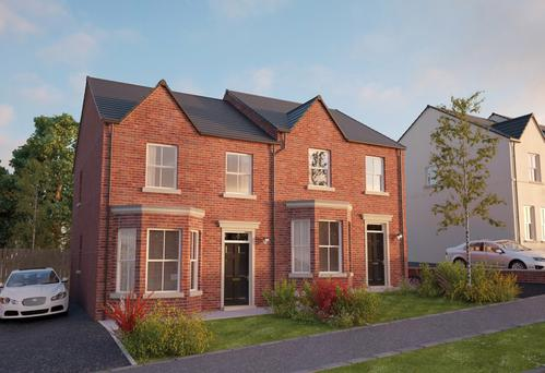 Two new homes in a housing estate in Newtownabbey