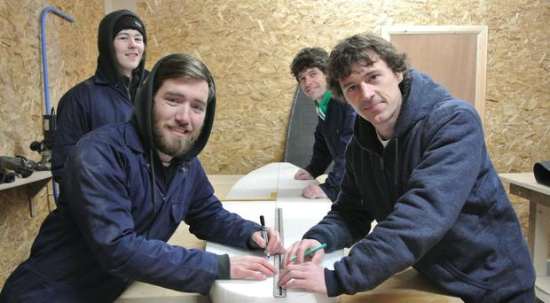 The Skunkworks team (from left) of Stephen Murray and Thomas Taylor along with brothers Ricky and Chris Martin