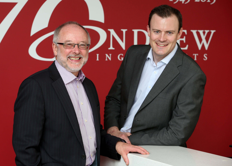 Tim Andrew (left), MD of Andrew Ingredients, with commercial director John Graham
