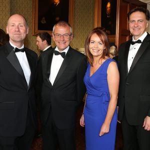 Martin McGinley, Keith Chuter, Caitriona Toner and David Thomas of American Airlines at the Belfast Telegraph Business Awards