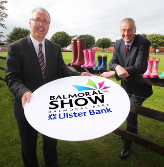 Richard Donnan (left) launches the show with RUAS chief executive Colin McDonald