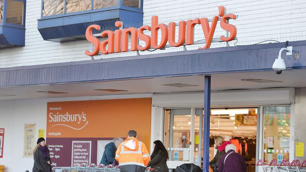 Sainsbury's reported pre-tax profits of £548 million against losses of £72 million the previous year