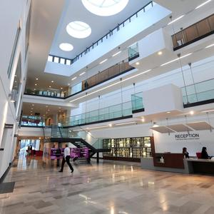 The interior of the Public Record Office of Northern Ireland (PRONI)
