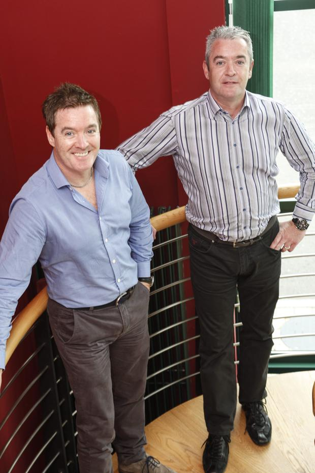 From left, Kieran and Brian McCracken of Cookstown-based BA Components
