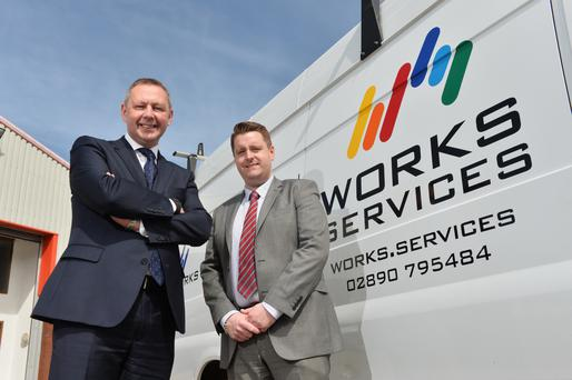 Sean Sheehan, regional director NI Consumer & Small Business with Bank of Ireland UK, and Philip Tasker, business development manager at Works Services