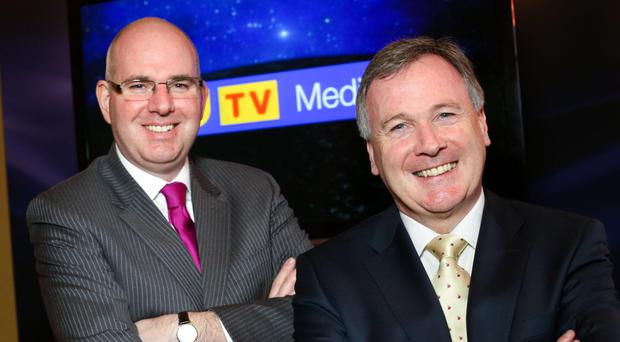 UTV Ireland boss Michael Wilson and John McCann, Wireless Group chief