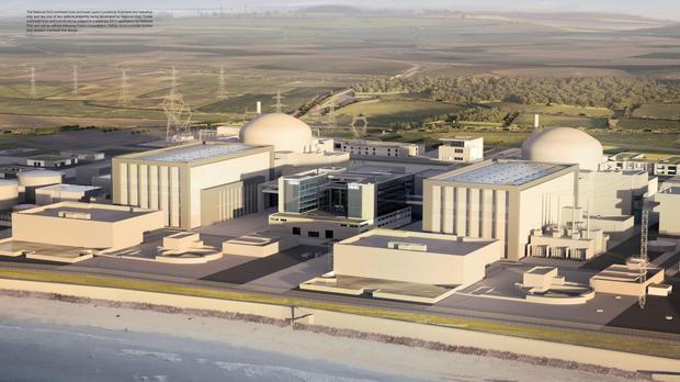 Artist's impression of plans for the new Hinkley Point C nuclear power station (EDF / PA)