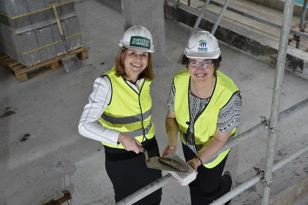 Beth Robinson (left) of Templeton Robinson with Jenny Williams of Habitat NI