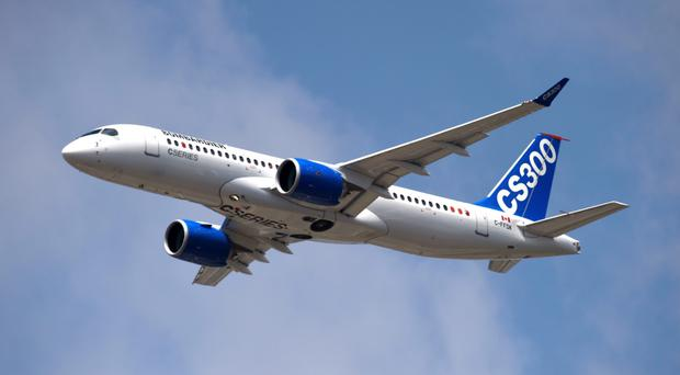 One of the C Series aircraft which are made by Bombardier