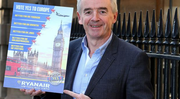 Michael O'Leary insists Ryanair would scale back its operation in the event of a Brexit