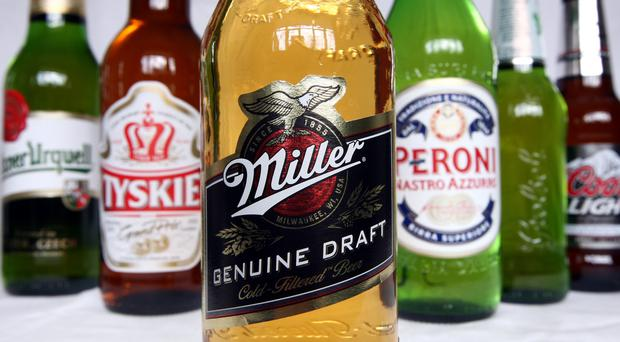 SABMiller has reported a 16% fall in adjusted full year pre-tax profit