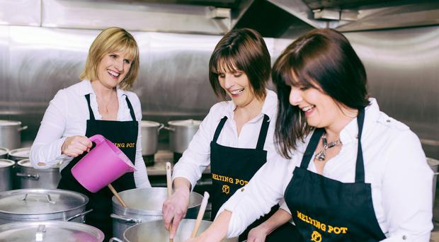 Sisters Jenny Lowry, Dorothy Bittles and Cathy Johnston of Blackthorn Foods, creator of Melting Pot Fudge