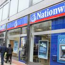 Nationwide Building Society reported pre-tax profits of £1.34 billion for the 12 months to April 4