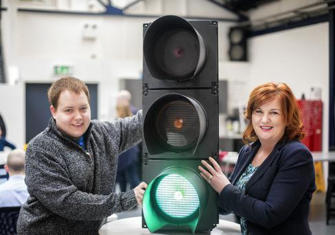 Diane Roberts of Colman Equity and Matthew Large from event intelligence software company Glistrr, which was one of the first to benefit from the new fund through StartPlanetNI
