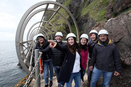 The visit is part of a Tourism Ireland campaign to increase the number of Italians travelling to Northern Ireland