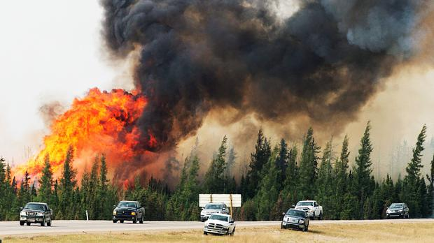 The rally has been sparked by supply disruptions following fires in Canada (AP)