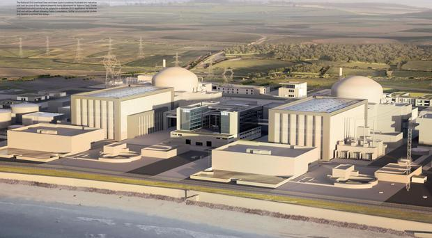 Artist's impression of the new Hinkley Point C nuclear power station (EDF/PA)