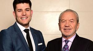 Former Apprentice winner Mark Wright (left) with Lord Sugar