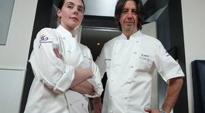 Danni Barry and Michael Deane at the Michelin-starred Eipic in Belfast