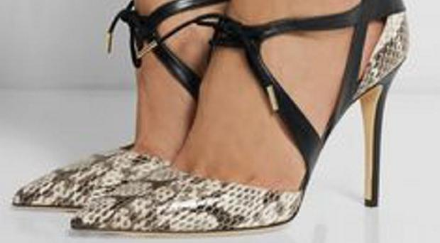 Luxury: One of the group's shoes