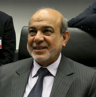 Adil Abdul Mahdi, Minister of Oil from Iraq, at the Opec meeting in Vienna (AP)